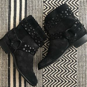 FRYE Carly studded short suede boot